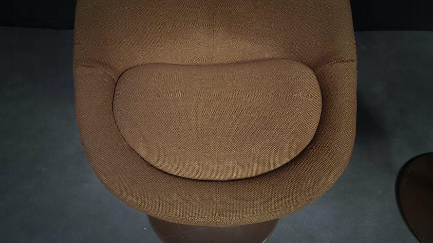 Brown Scandinavian Armchairs by B. Johanson, 1968, Set of 2