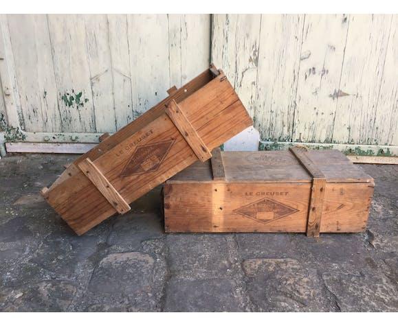 Caisse en bois le Creuset