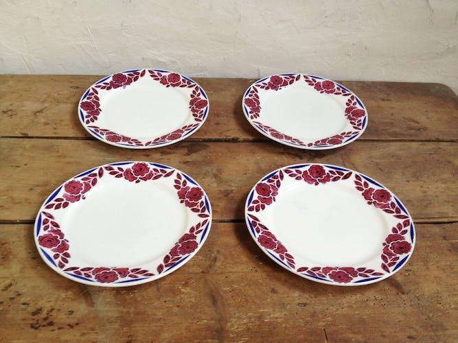 Four flat plates Sarreguemines