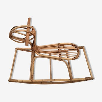Goat rocking rattan for child