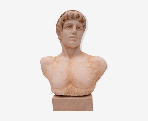 Buste ancien d'un personnage masculin de l'antiquité
