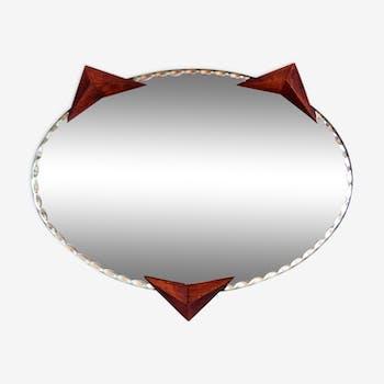 "Mirror model ""chat"" 50s 30x26cm"