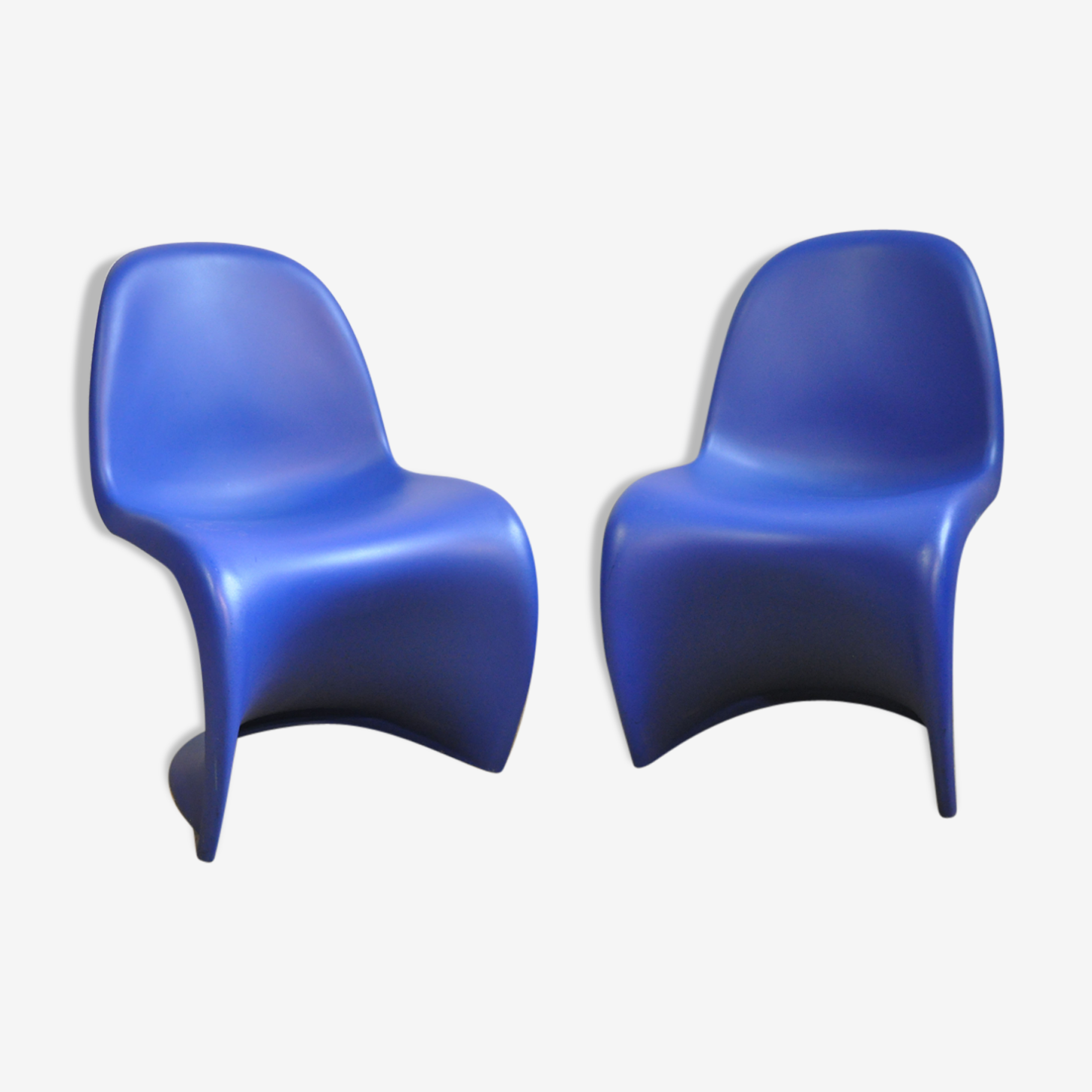 Paire de chaises S Panton réédition Vitra 2000