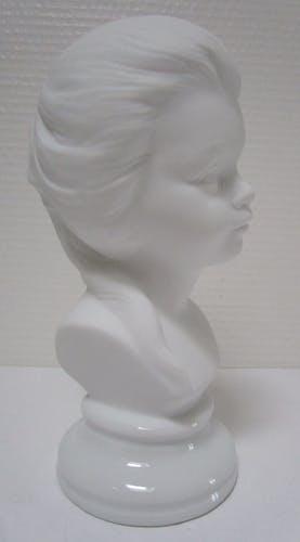 Bust of girl biscuit vintage porcelain 60s