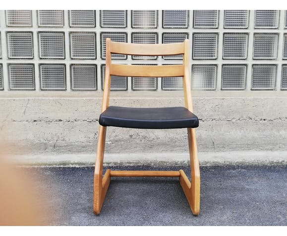 Ensemble 4 chaises années 50