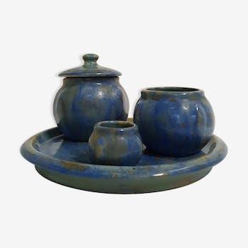 Set de pots en céramique vintage