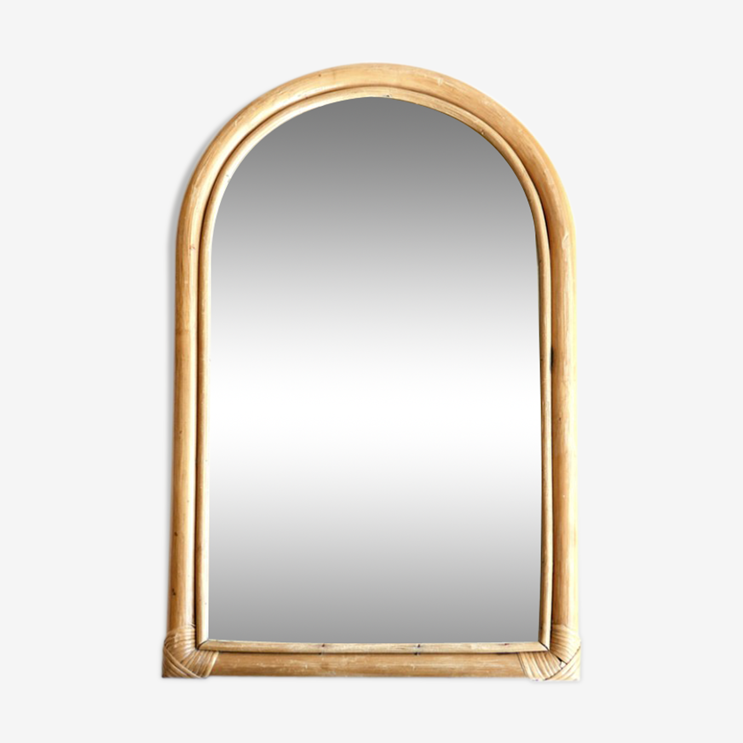 Bamboo mirror, early 1970 - 56x34cm