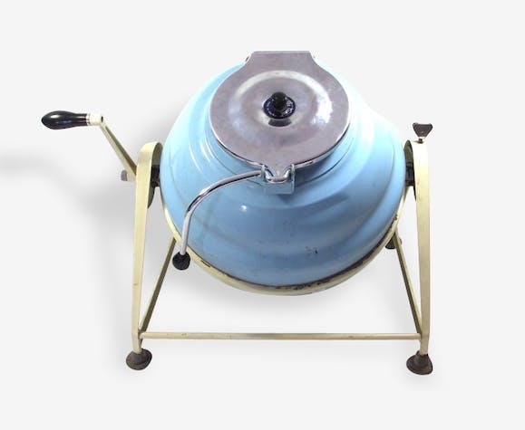 machine laver manivelle ann es 50 60 m tal bleu vintage 8866. Black Bedroom Furniture Sets. Home Design Ideas