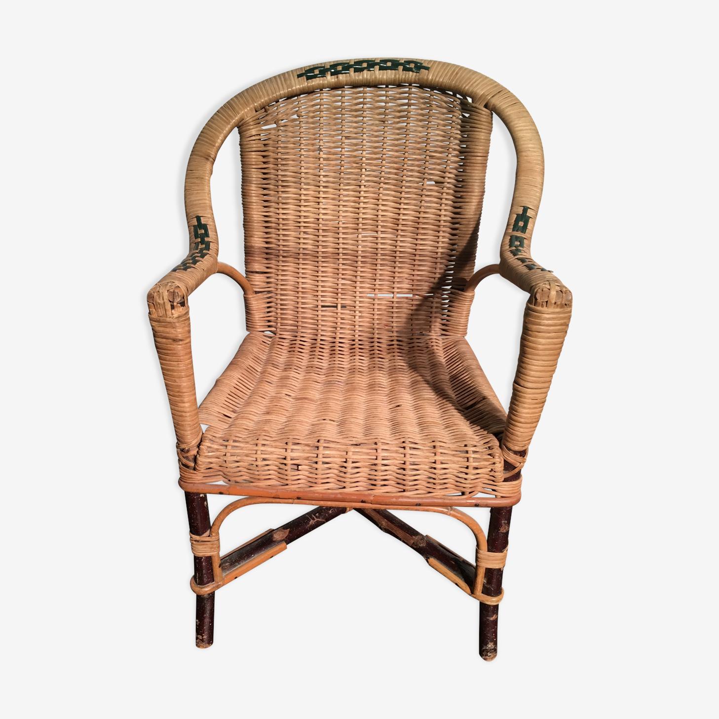 Child armchair wicker