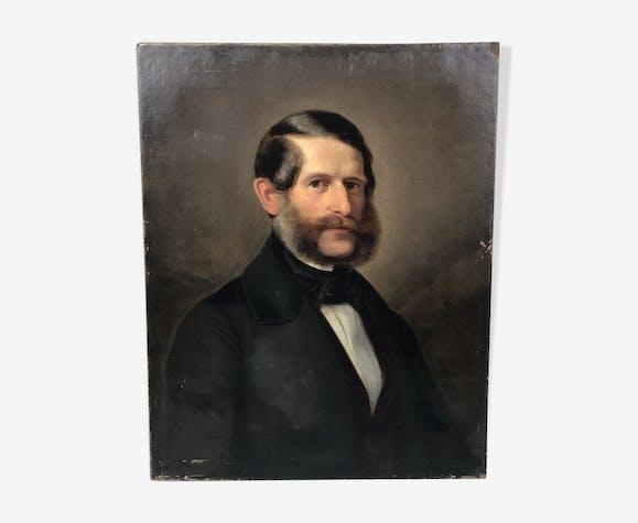 Portrait homme aux rouflaquettes