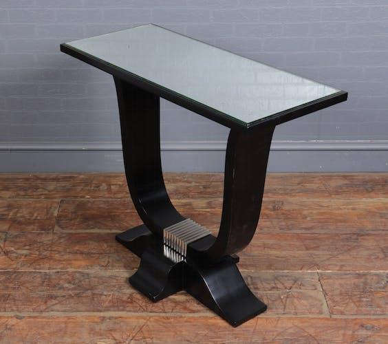 Table d'appoint Art déco française en laque ébonisée c1920