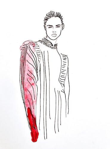 Illustration originale de mode