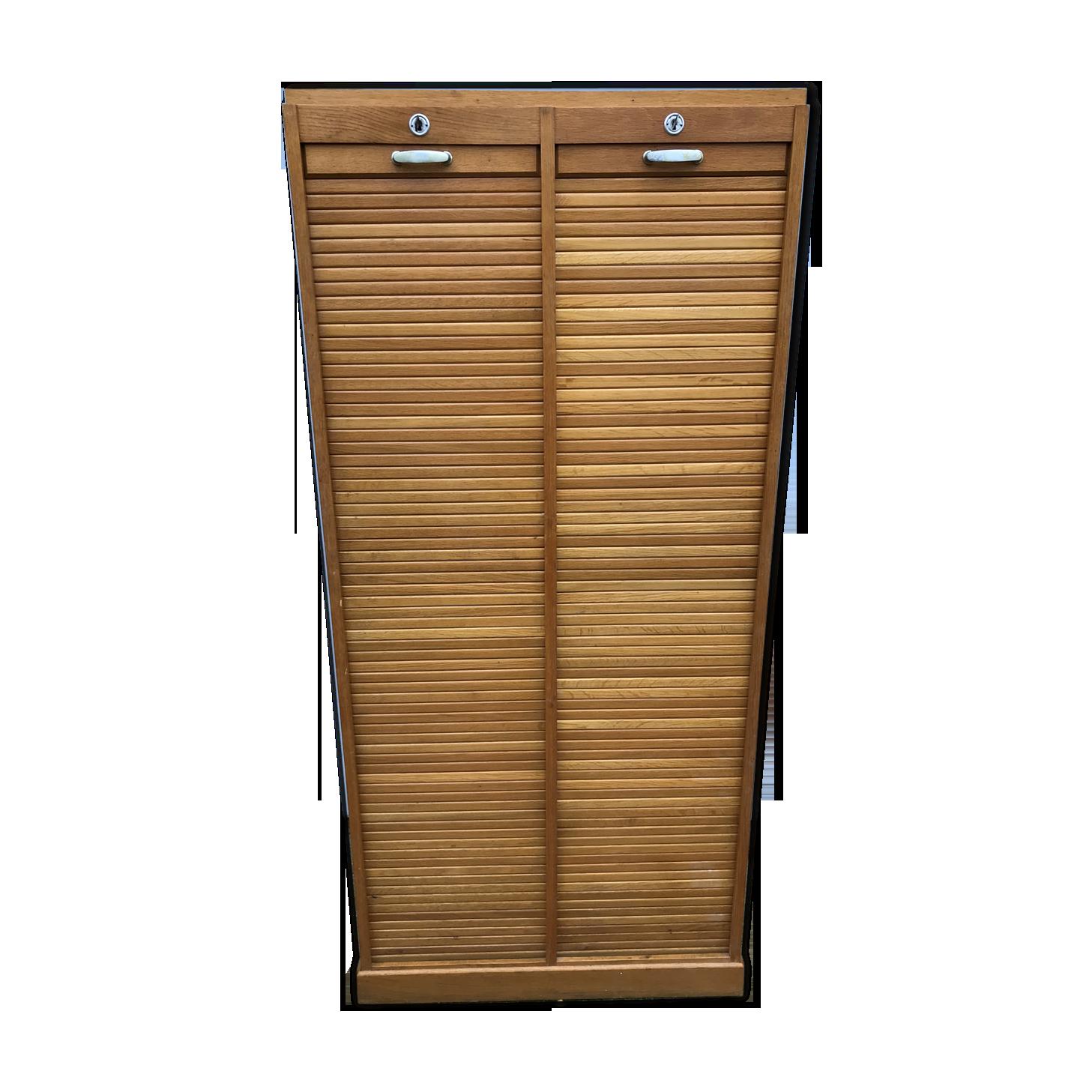 Meuble classeur à rideaux de notaire bois matériau bois