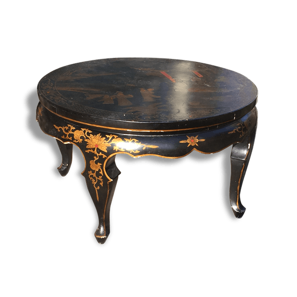 table basse ronde motifs asiatiques pierre et pl tre noir thnique 149190. Black Bedroom Furniture Sets. Home Design Ideas