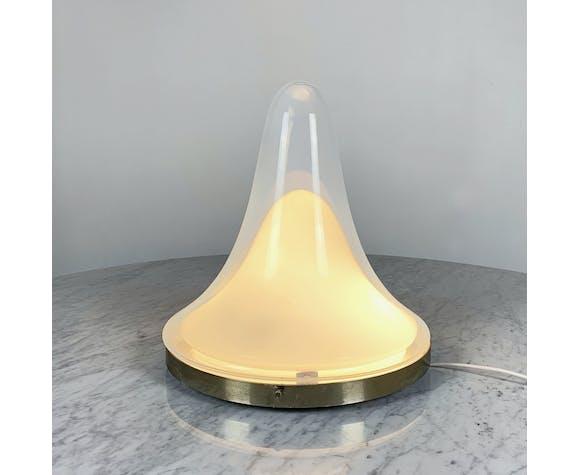 Lampe à poser en verre de Murano et laiton par Carlo Nason, 1970