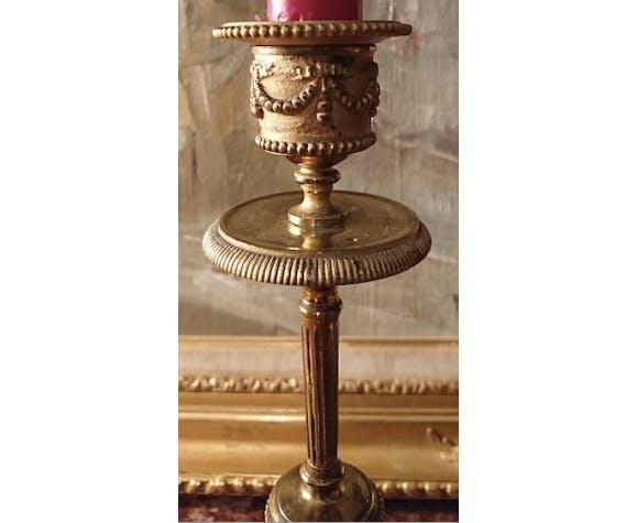 Paire de bougeoirs en bronze Napoléon III