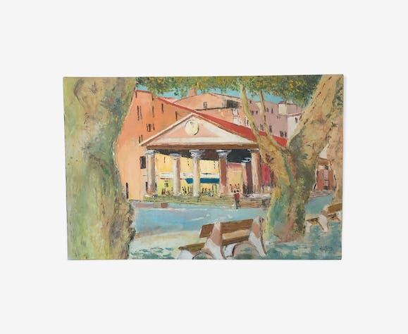 Tableau paysage village corse