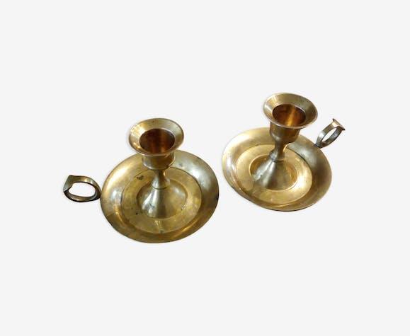 2 chandeliers en laiton