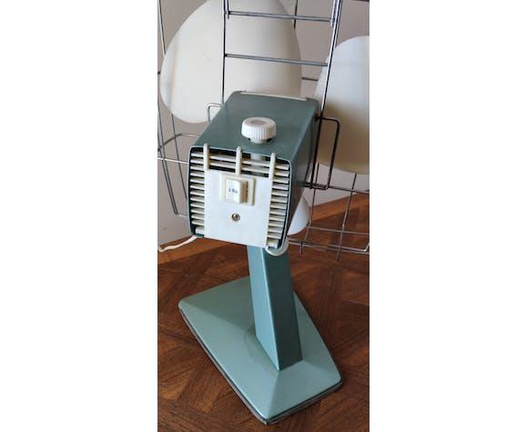 Ventilateur vintage 1950 Calor bleu métallisé