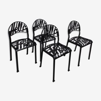 "Set of 4 chairs Jeremy Harvey ""Hello There"""