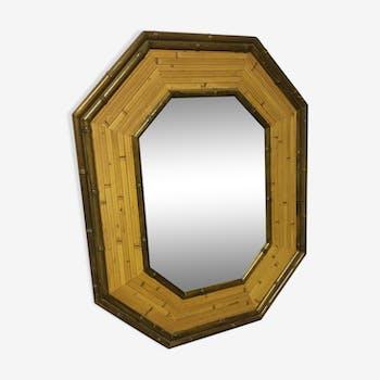 Miroir en bambou octogonal