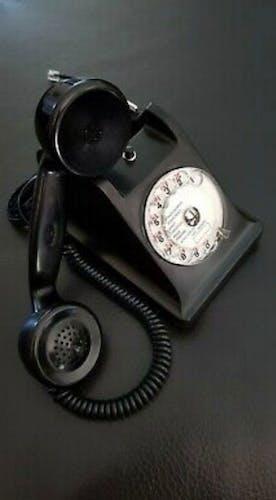 Téléphone u43 rétro en bakélite noir
