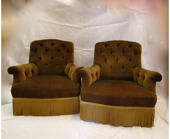Velvet armchair, 20th century