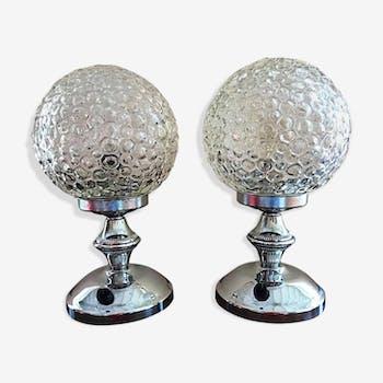 Table lamp pair Limburg Bubble 1960