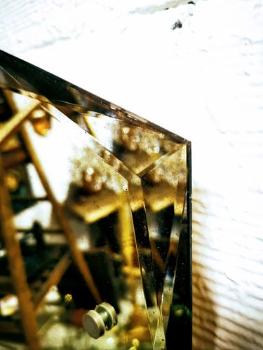 Miroir octogonal biseauté années 30