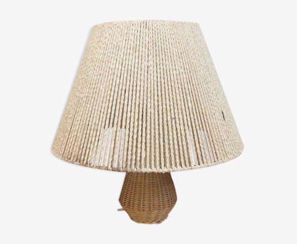 Lampe en osier années 50/60 vintage