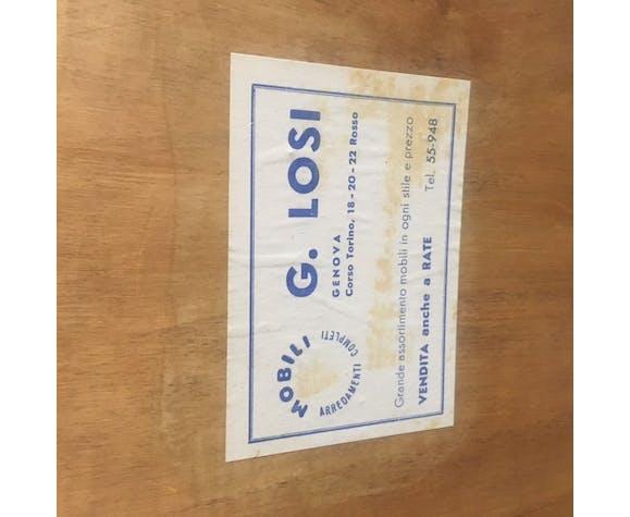 Miroir rectangulaire en bois pour G.Losi  1960 42x96cm