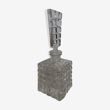 Ancien flacon a parfum en verre taillé