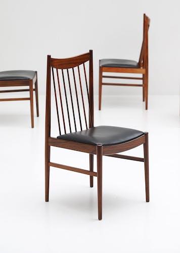 Chaises en bois de rose par Arne Vodder for Sibast, 1960