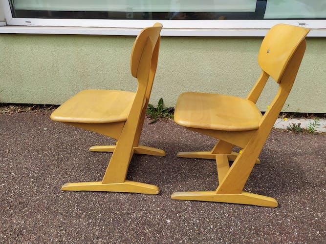 Lot de 2 chaises Casala enfant - vintage - petit modèle