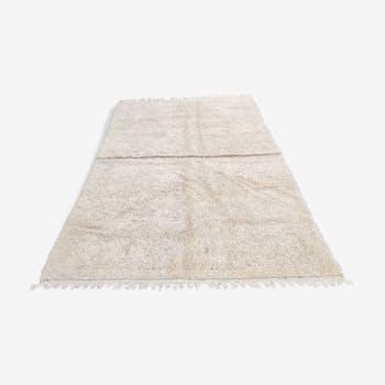 Tapis beni ouarain berbere en laine fait main 265x190 cm