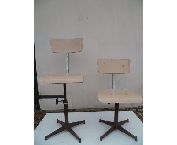 Industrial chairs pair