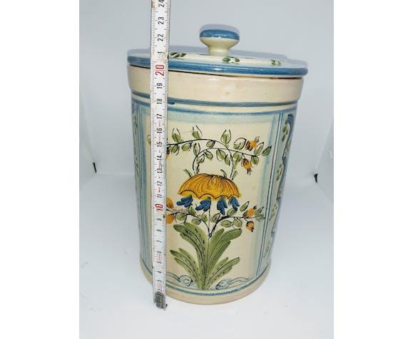 Deux pots de cuisine peints à la main