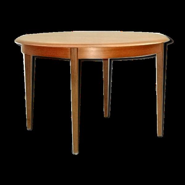 Table de salle à manger extensible scandinave en teck