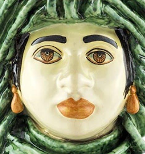 Vase couronne vert femme