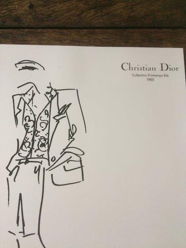 Christian Dior,  illustration de mode