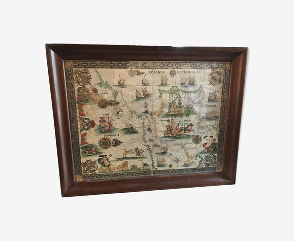 Gibraltar strait Maritime map