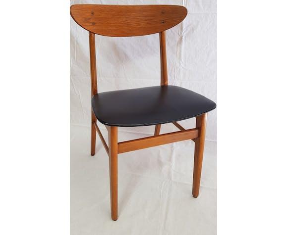 """Série de 4 chaises danoises en teck modèle """"farstrup"""" 210 années 60"""