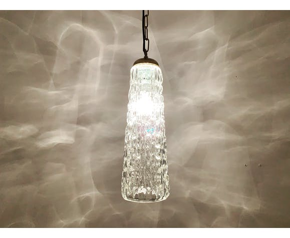 Crystal glass pendant lamp by Rupert Nikoll 1950