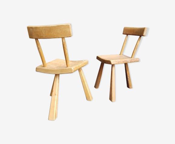 Duo de chaises brutalistes, années 60