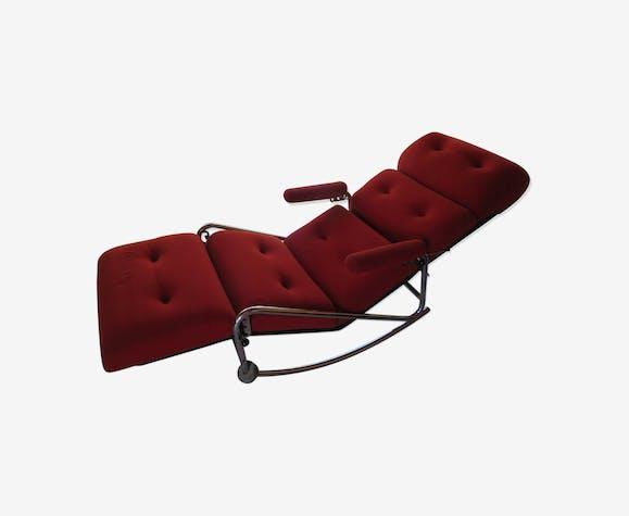 Tissu Rocking Vintage Rouge Chair Cldsn10 Lama qzMSUGVp