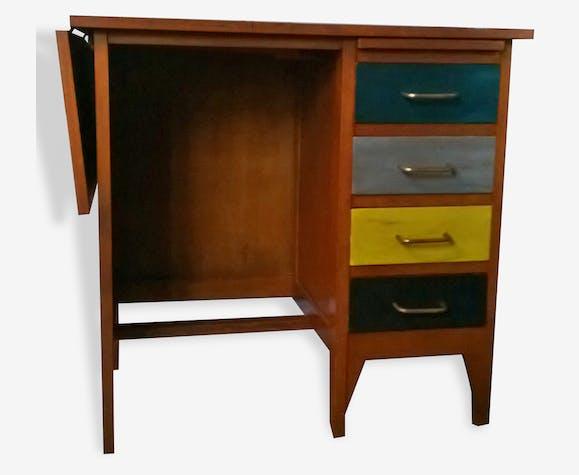 Ancien bureau vintage pour écolier