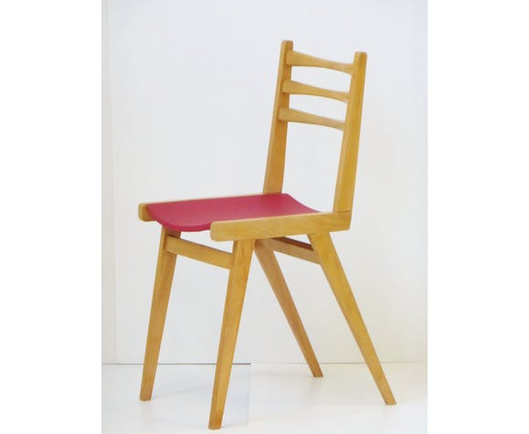 Set Of 4 Chairs Bistro Zazu Red Vintage