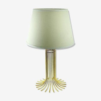 Gold metal table lamp