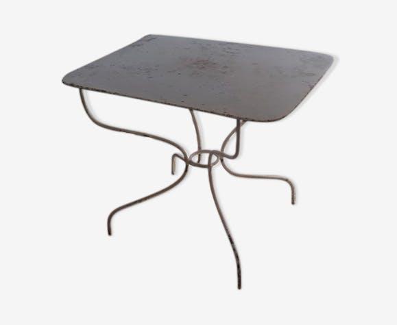 Table de jardin rectangulaire en fer XIXème siècle - métal - blanc ...