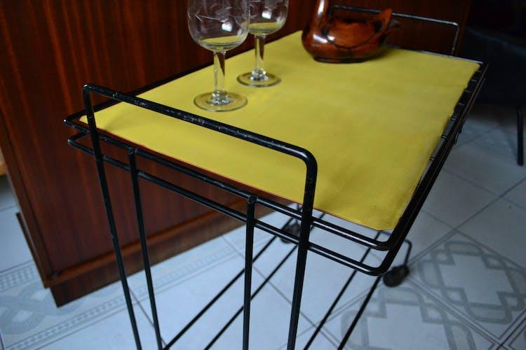 Desserte vintage table d'appoint roulante années 60